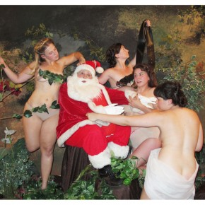 JaimieWarren_Self-portrait as Santa in Nymphes et Satyre by William-Adolphe Bouguereau:Santa byDerAlt_30x40in_2012