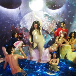 JaimieWarren_Self portrait as stripper in Birth of Venus by William Adolphe : Disco image_30x40in_2012
