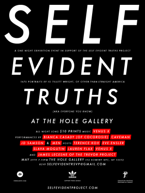 SELF EVIDENT TRUTHS  iO Tillett Wright One Night Photo Exhibition