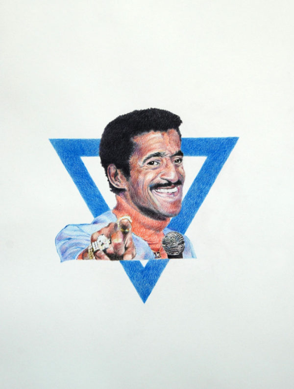 """Star of Davis, Jr."", 2012, colored pencil on paper, 44 x 30 inches"