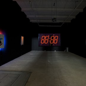 numbers, neon, digital, video, technology, eight