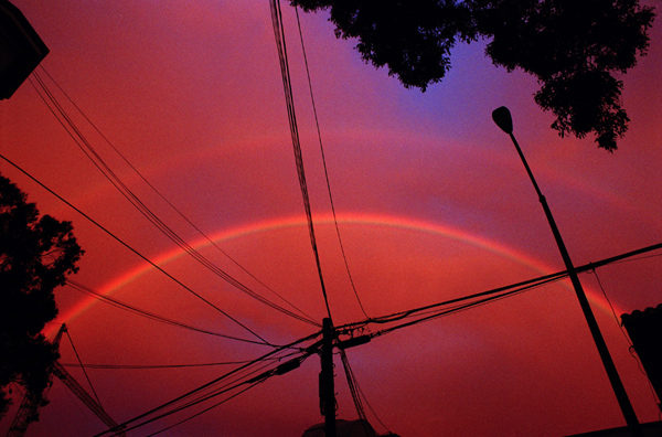 "Sandy Kim, ""Double Rainbow"", 2012 digital C print with frame 21 x 29 inches, framed"