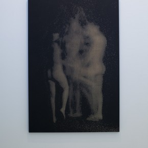 """The Three Graces"", 2012, acrylic and engraving on panel, 70 x 48 inches, 177.5 x 121.5 cm"