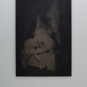 """Unconditional Commitment to Sacred Love II"", 2012 , acrylic and engraving on panel, 70 x 48 inches, 177.5 x 121.5 cm"