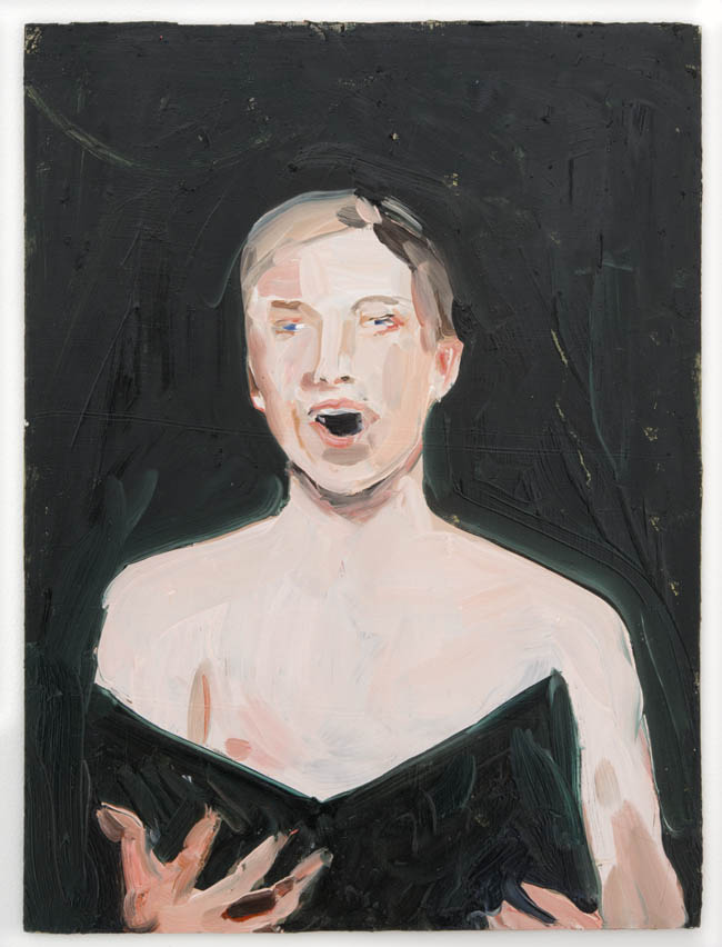 "Anna Bjerger, ""Vocal"", 2013, oil on aluminum, 16 x 12 inches, 40 x 30 cm"
