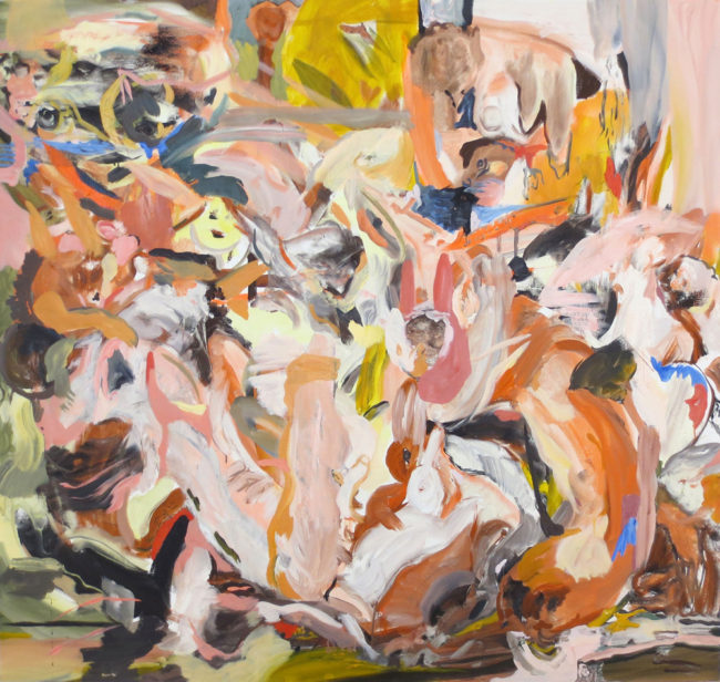 "Cecily Brown, ""Chestnut and Snowball"", 2013, oil on linen, 41 x 45 inches, 104 x 114 cm"