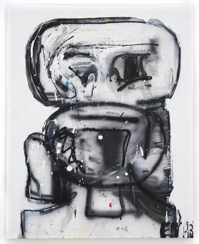 "Eddie Martinez, ""Untitled"", 2013, oil and spray paint on canvis, 24 x 30 inches, 61 x 76 cm"
