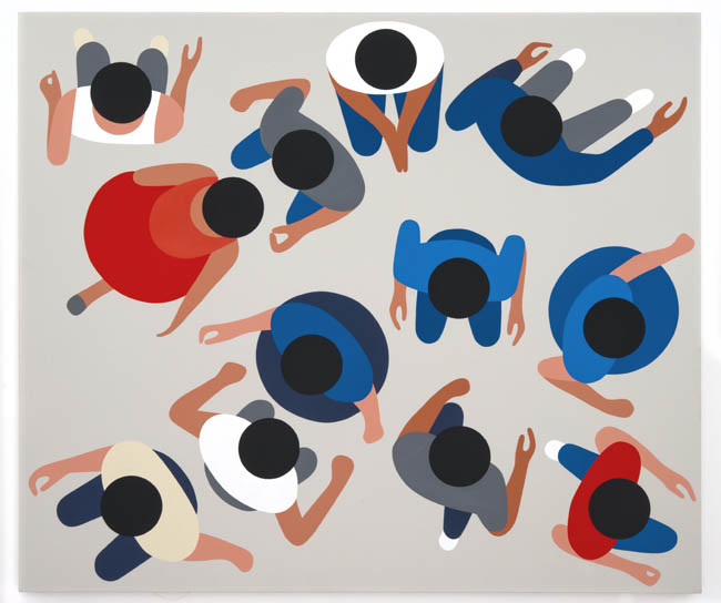 "Geoff McFetridge, ""12 Dots"", 2013, acrylic on canvas, 45 x 39 inches, 114 x 99 cm"