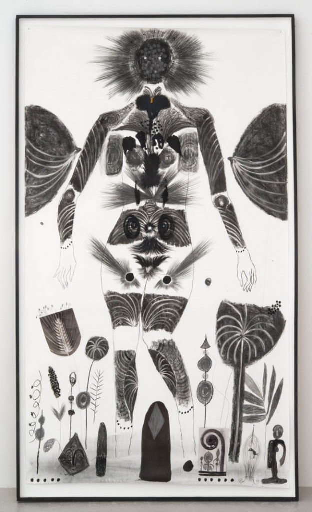 "Jannis Varelas, ""The Cannibal"", 2013, drawing on paper, 102.5 x 59 inches, 260 x 150 cm"