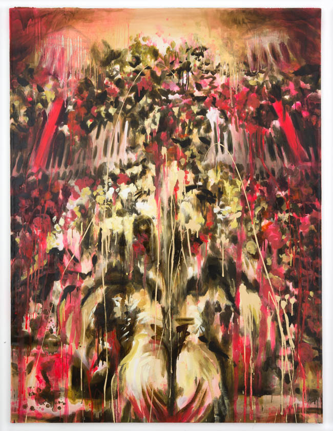 "Rosson Crow, ""JFK Funeral Flowers"", 2012, oil and acrylic on linen, 96 x 72 inches, 243.5 x 182.5"