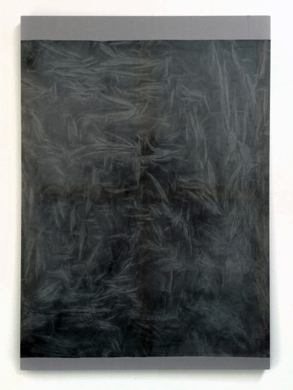 "Ayan Farah, ""Arvida"", 2014, acrylic, fabric dye, alcohol, vinegar on cotton voile and linen, 66.93 x 47.24 inches"