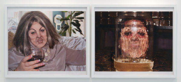 """Self-portrait as Elsa Patton/Self-portrait as The Face of Boe in Elsa Patton Totally Looks Like The Face of Boe by itsvictoria"", 2014, Color photographs, 20 x 24 inches"