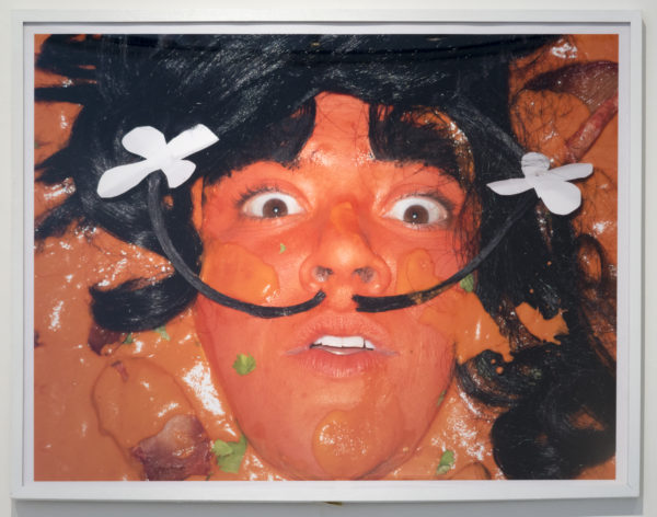 """Self-portrait as Chicken Tikka Masalvador Dali by food'lebrities (Celebrities as Food Series)"", 2014, Color photograph, 30 x 40 inches"