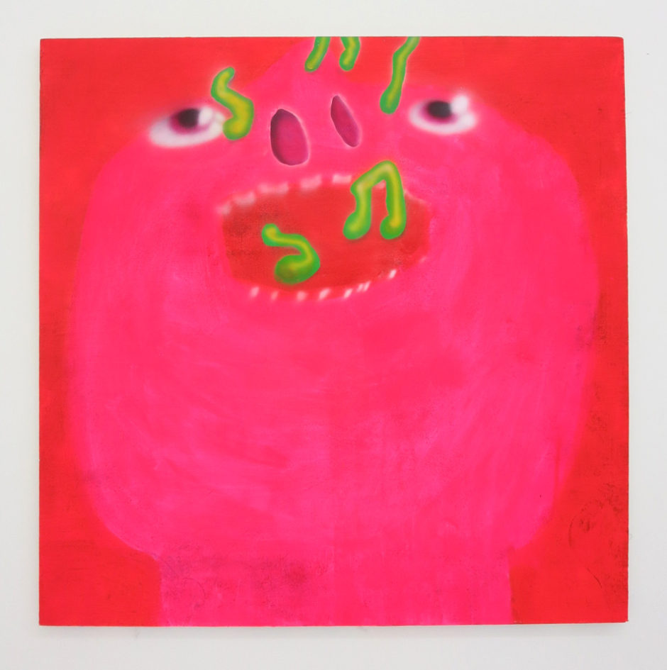 "Austin Lee, ""Singer"", 2014, flashe acrylic on canvas, 48 x 48 inches, 121.5 x 121.5 cm"