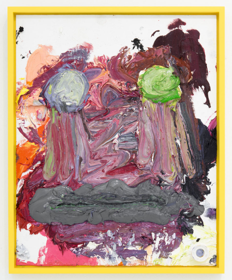 "Bjarne Melgaard, ""Untitiled"", 2014, oil on canvas board, 20 x 16 x 1 inches, 50.5 x 40.5 x 2.5 cm"