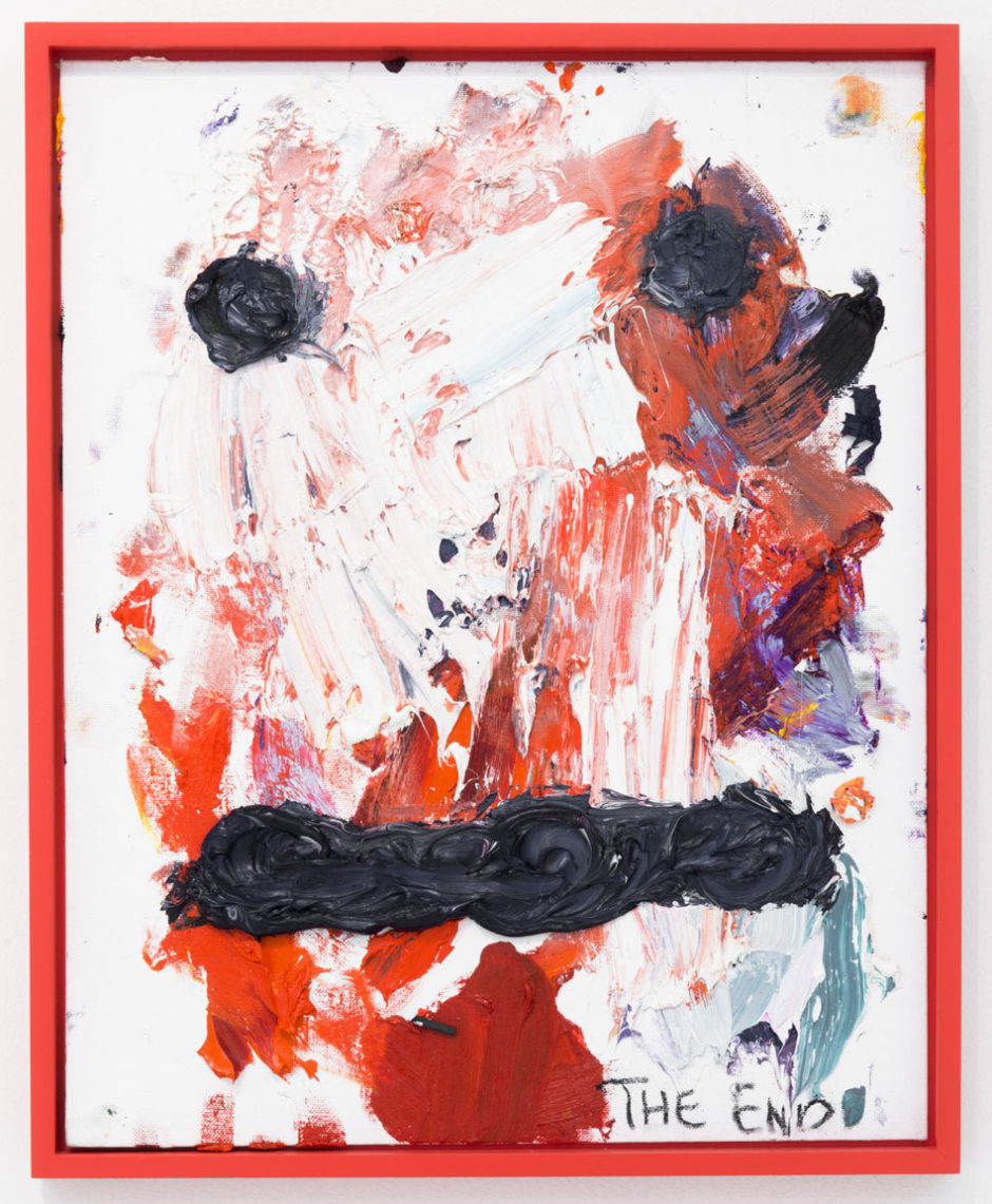 "Bjarne Melgaard, ""Untitled (The End)"", 2014, oil on canvas board, 20 x 16 x 1 inches, 50.5 x 40.5 x 2.5 cm"