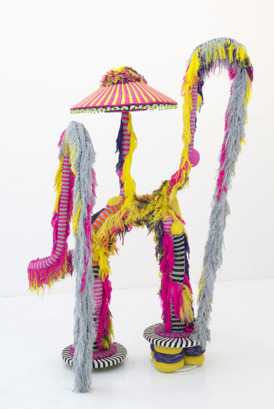 "Jim Drain, ""Untitled"", 2005, beads, fabric, string, mixed media, 80 x 52 x 32 inches, 203 x 132 x 83 cm"