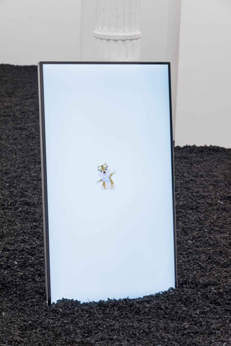 """Hipmunk TV screen"", 2014, television with digital GIF, 44 x 25.5 inches, 111.8 x 64.8 cm"