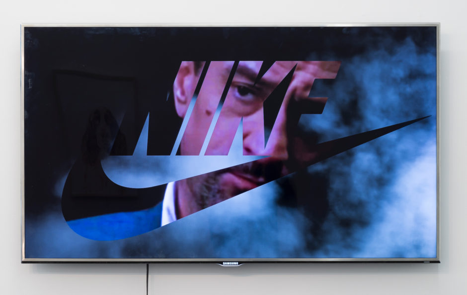 """Video / tv"", 2015, television with digital after effects montage, 30.5 x 53.25 inches, 77.5 x 135.3 cm"
