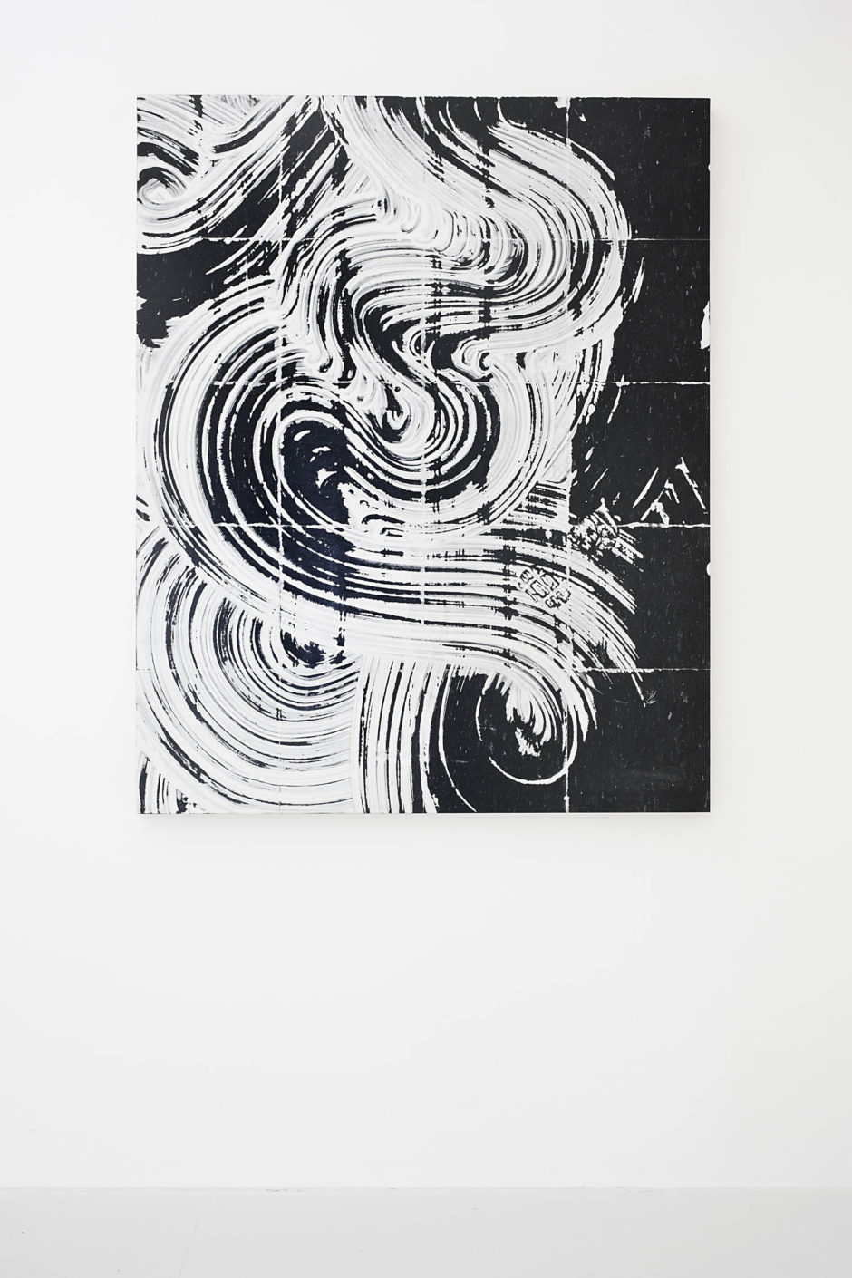 """Untitled (Mop no. 7)"", 2015, fiber glass reinforced plaster on linoleum, mounted on panel, 60 x 48 x 2.15 inches, 152.4 x 121.9 x 5.5 cm"