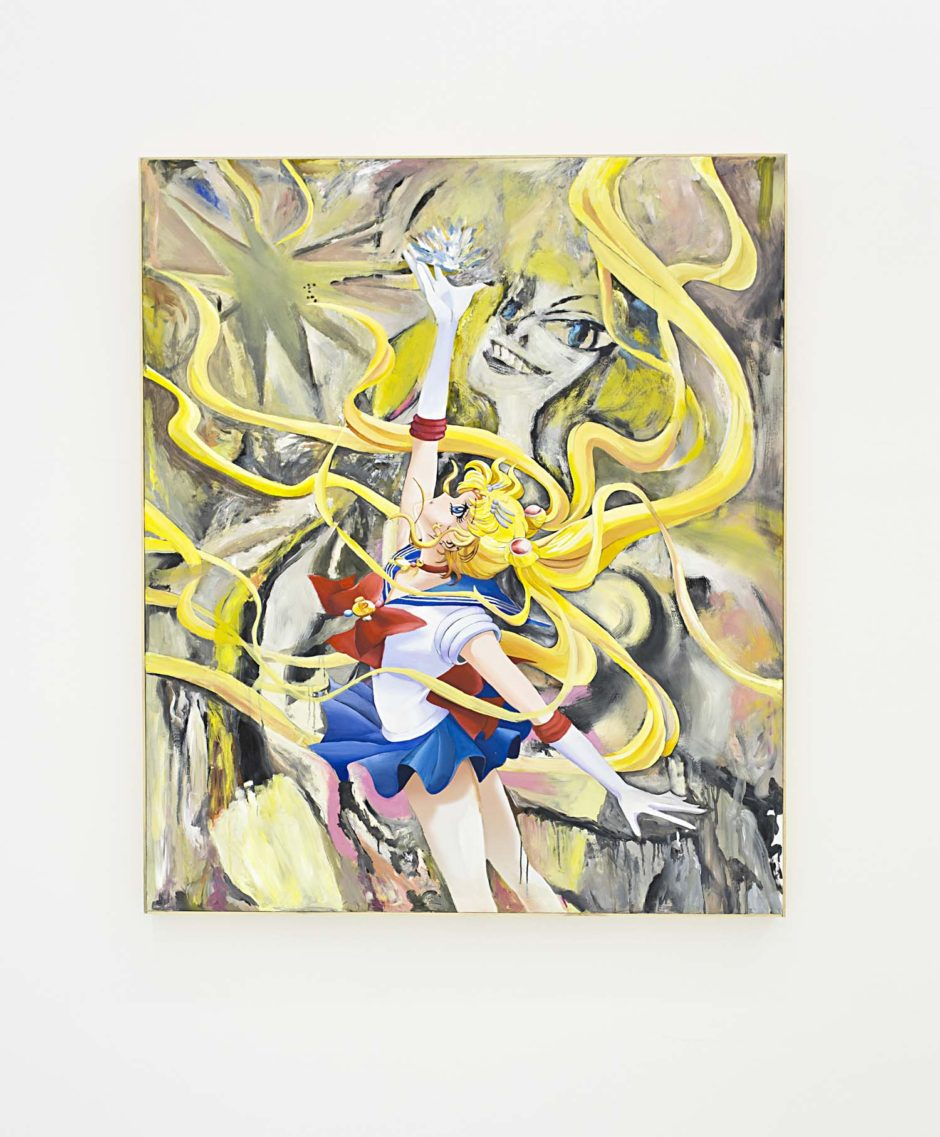 "Jeanette Hayes, ""From the DeMooning series (Sailor Moon with Crystal)"", 2015, Oil on canvas on panel with wood frame, 60.5 x 50.5 inches, 153.7 x 128.3 cm"