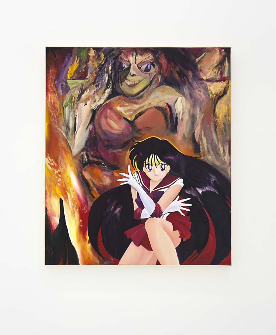 "Jeanette Hayes, ""From the DeMooning series (Sailor Mars)"", 2015, Oil on canvas on panel with wood frame, 60.5 x 50.5 inches, 153.7 x 128.3 cm"