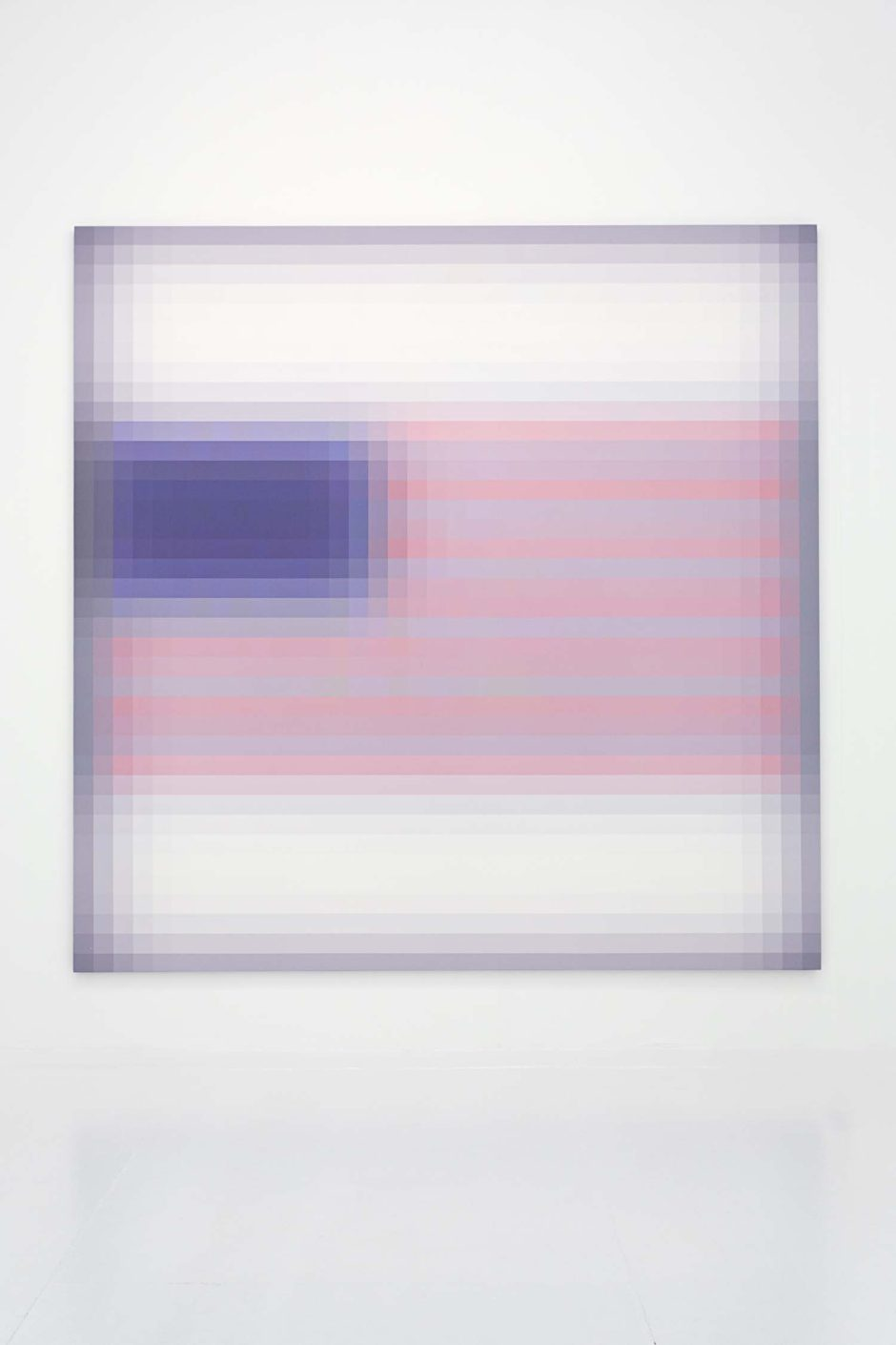 "Mark Flood, ""The Grayson Flag"", 2015, Inkjet print on canvas, 102 x 102 inches, 259.1 x 259.1 cm"