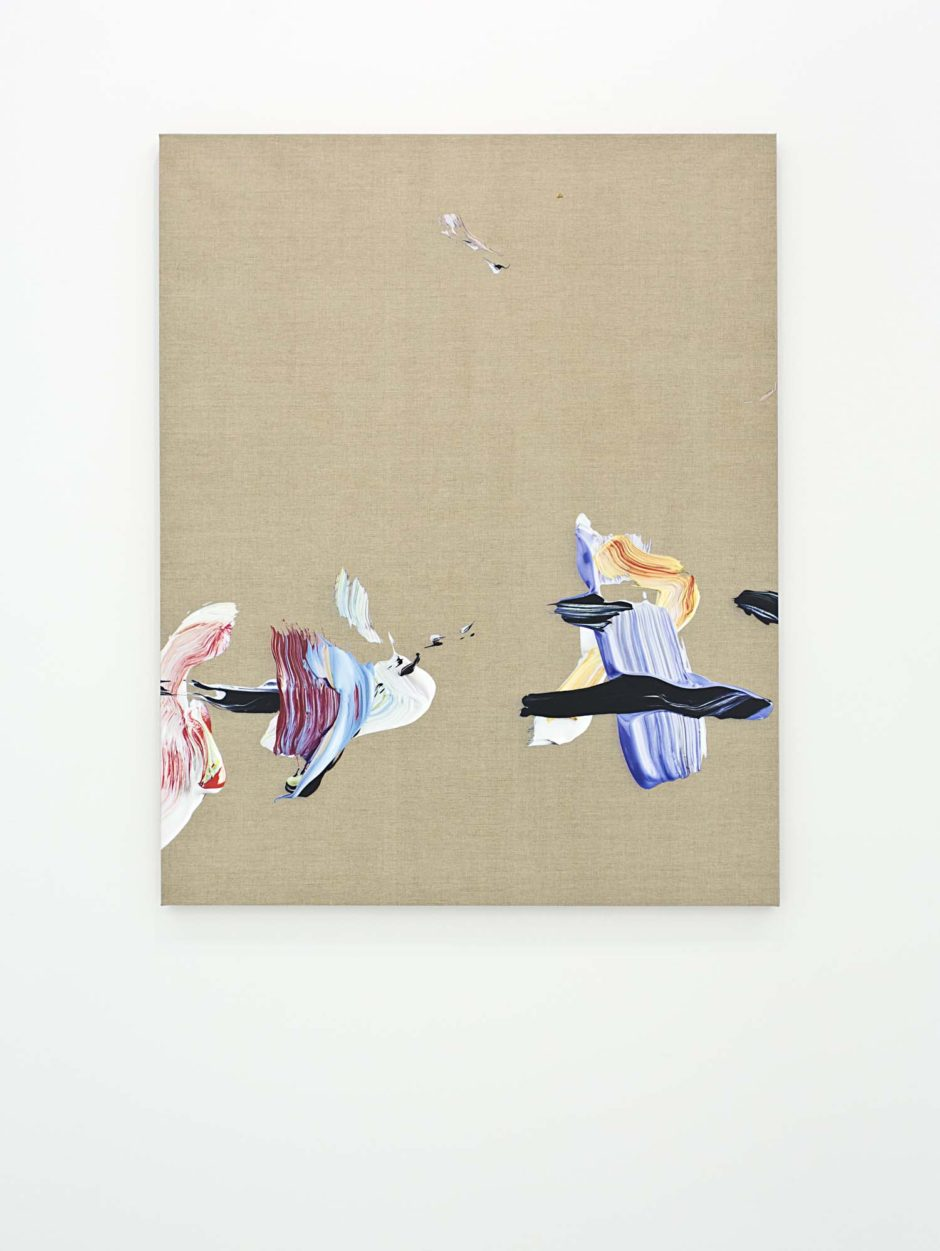 "Matthew Stone, ""Dance Instruction"", 2015, Digital print and acrylic on linen, 60 x 48 inches, 152.4 x 121.9 cm"