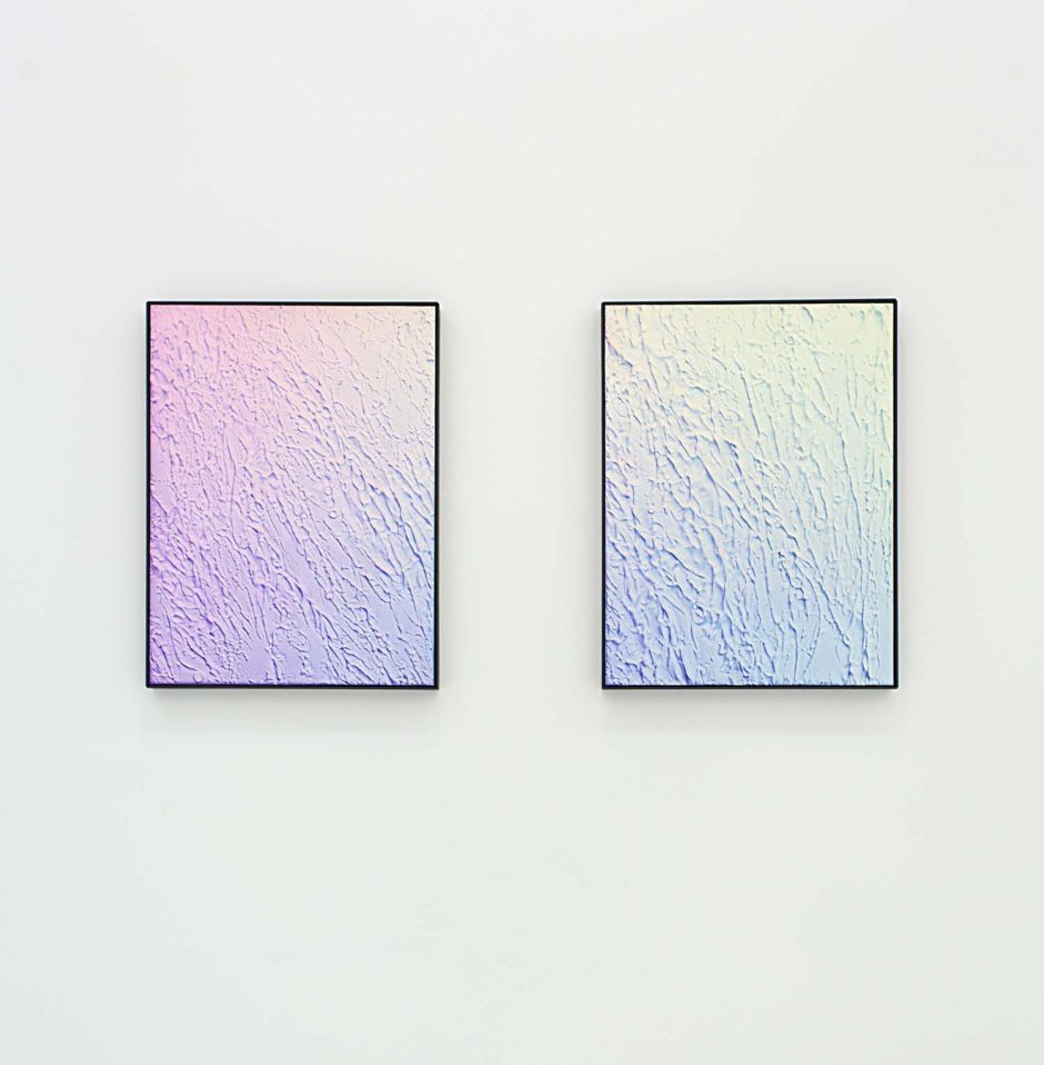 "Michael Staniak, ""Untitled"", 2014, Acrylic and casting compound on board, 24 x 18 inches each, 61 x 45.7 cm each"