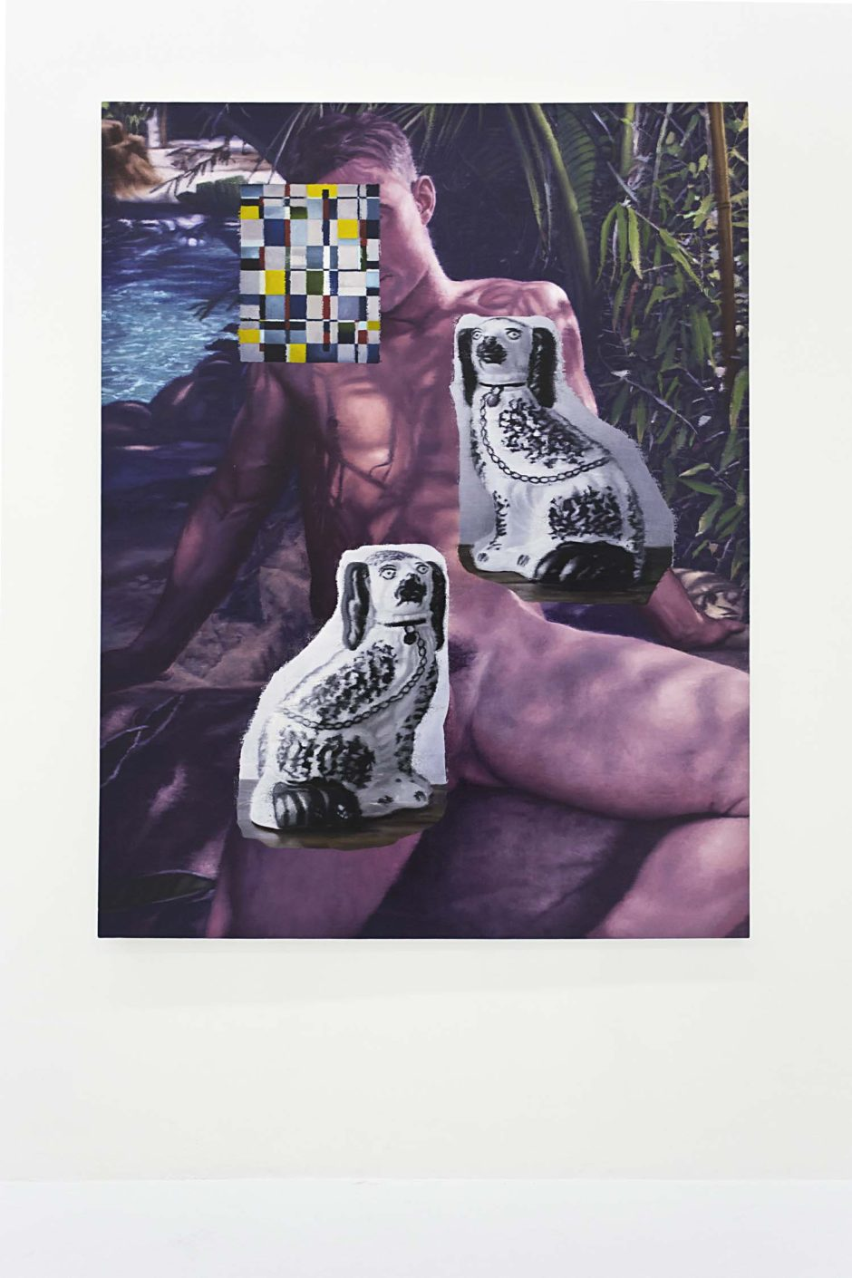 "Nathan Ritterpusch, ""Pool Boy"", 2015, Oil on canvas, 72 x 60 inches, 182.9 x 152.4 cm"