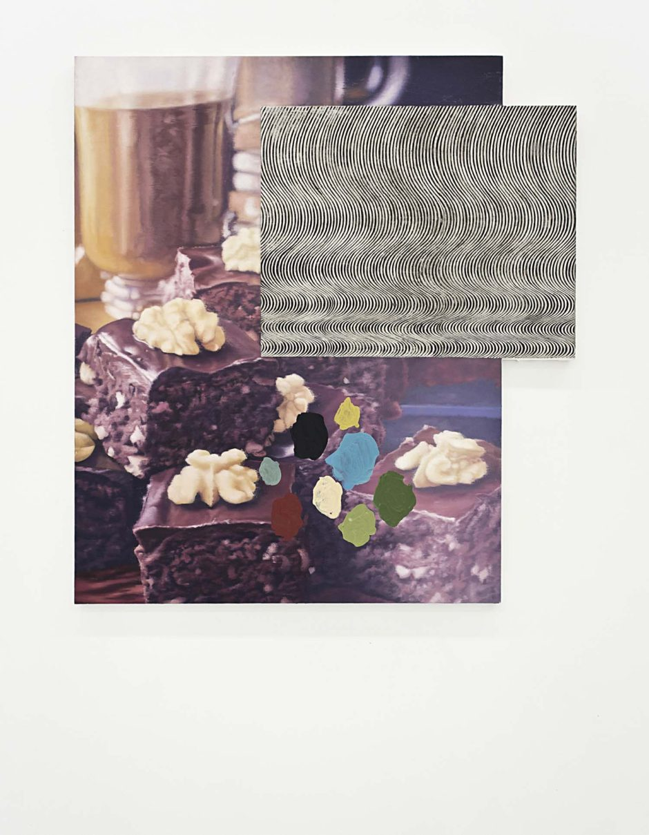 "Nathan Ritterpusch, ""Brownies with Bridget Riley's Current and Abstract Shapes"", 2015, Oil on canvas, 60 x 48 inches, 152.4 x 121.9 cm"
