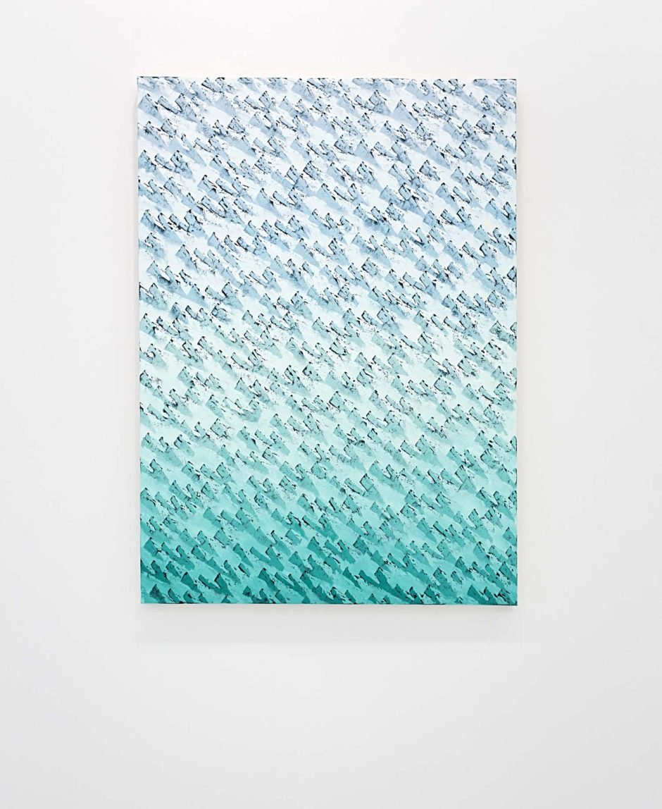 "Neil Raitt,  ""Alpine (Scream Green)"", 2015, Oil on canvas 55.12 x 39.37 inches, 140 x 100 cm"