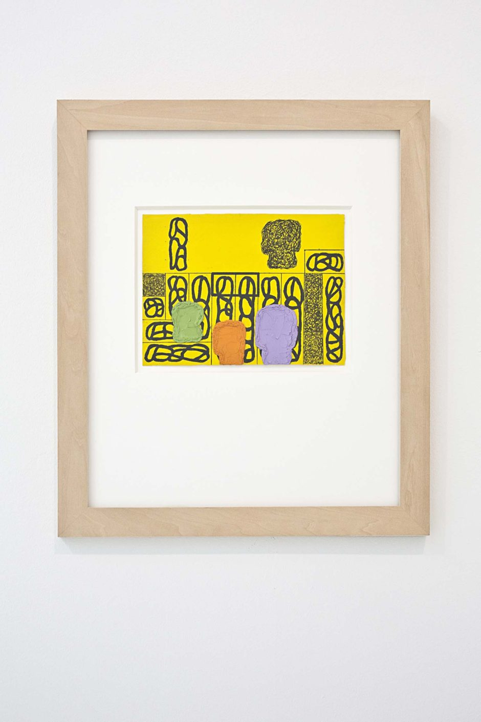 "Jonathan Lasker, ""UNTITLED"", 2008, Oil and pigment pen on paper, 18 x 14 inches, 45.7 x 35.6 cm"