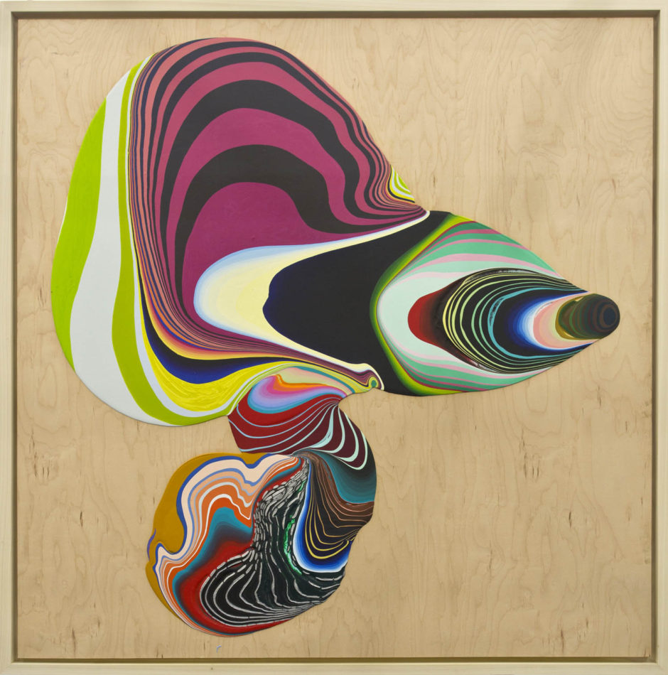Untitled, 2013, paint on wood, 48 x 48 inches