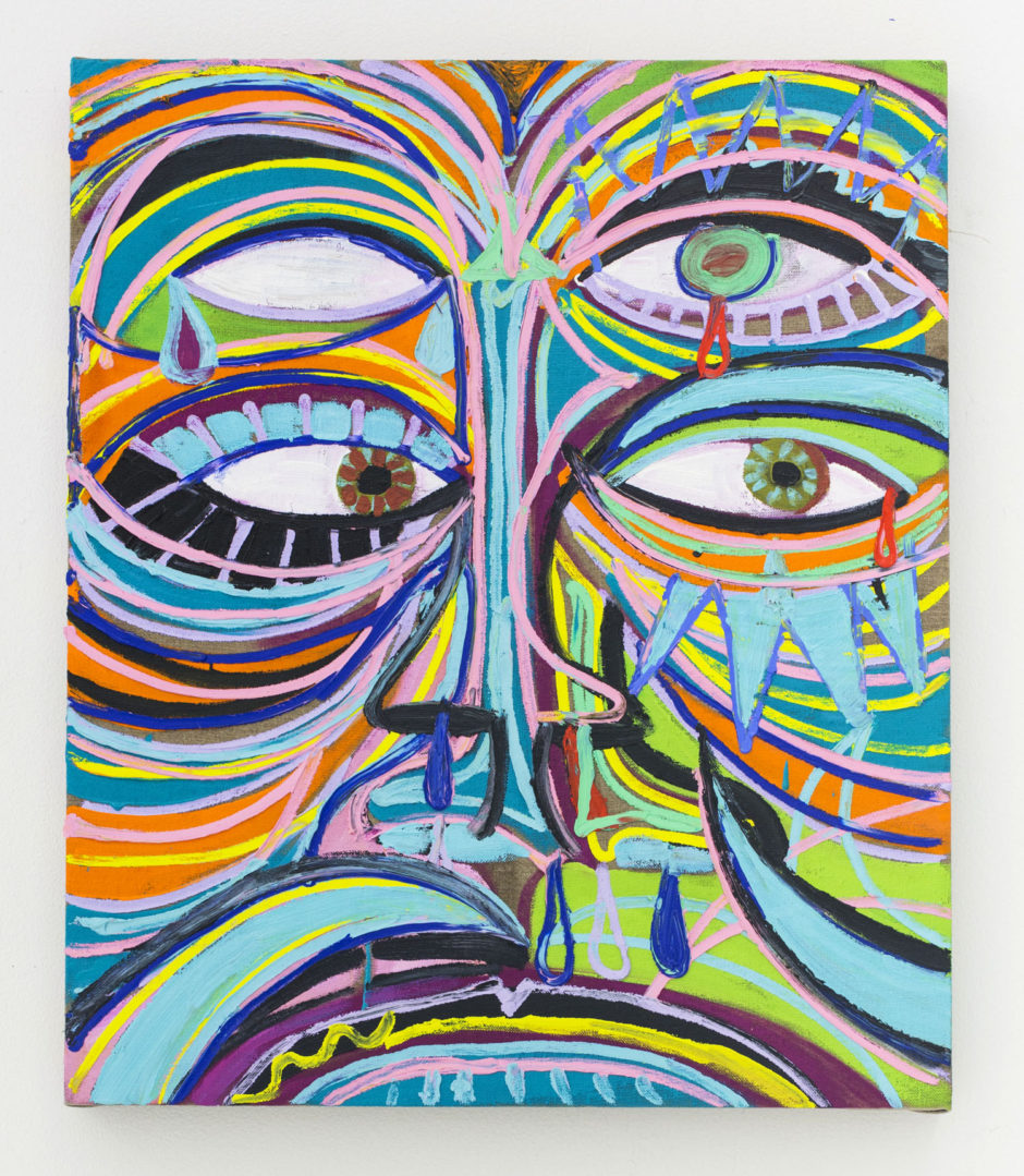 Ryan Schneider, Patience Mask, 2015, oil on canvas, 24 x 20 inches