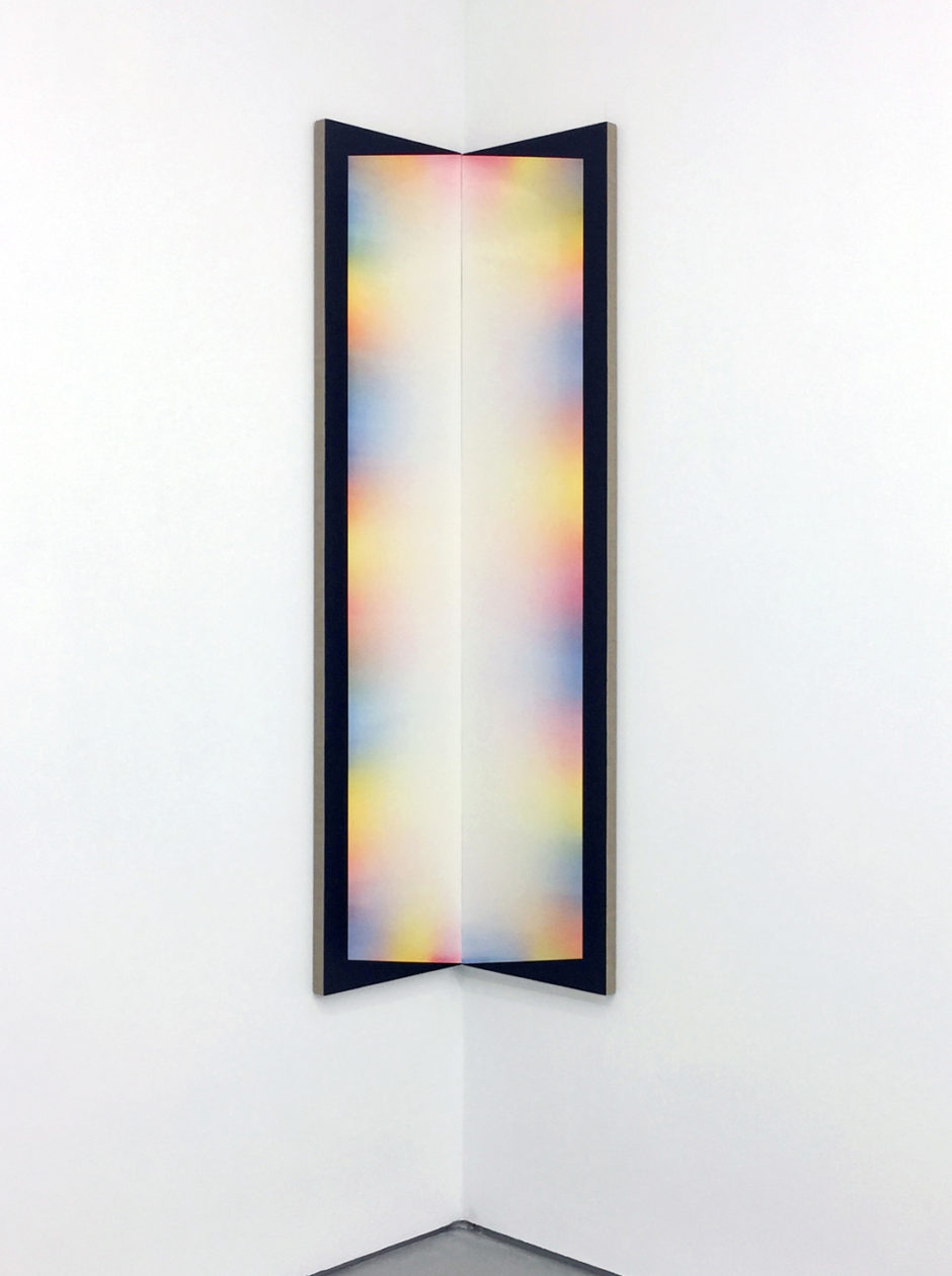 "Adam Henry, ""Untitled"", 2015, synthetic polymers on linen, 67 x 30 inches"