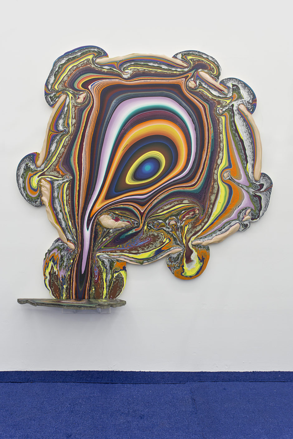 "Holton Rower, ""Heart Healthy"", 2013, paint on wood, 82 x 78.75 x 12 inches"