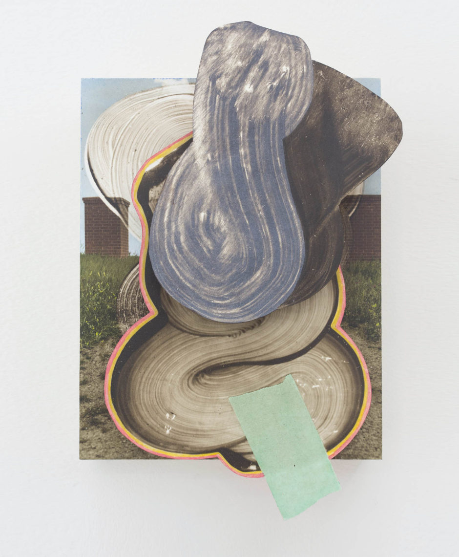Wil Murray, MAUSTLIZE 5, 2015, hand-colored fibre-based prints, acrylic, masonite and wood, 14 x 11 inches.