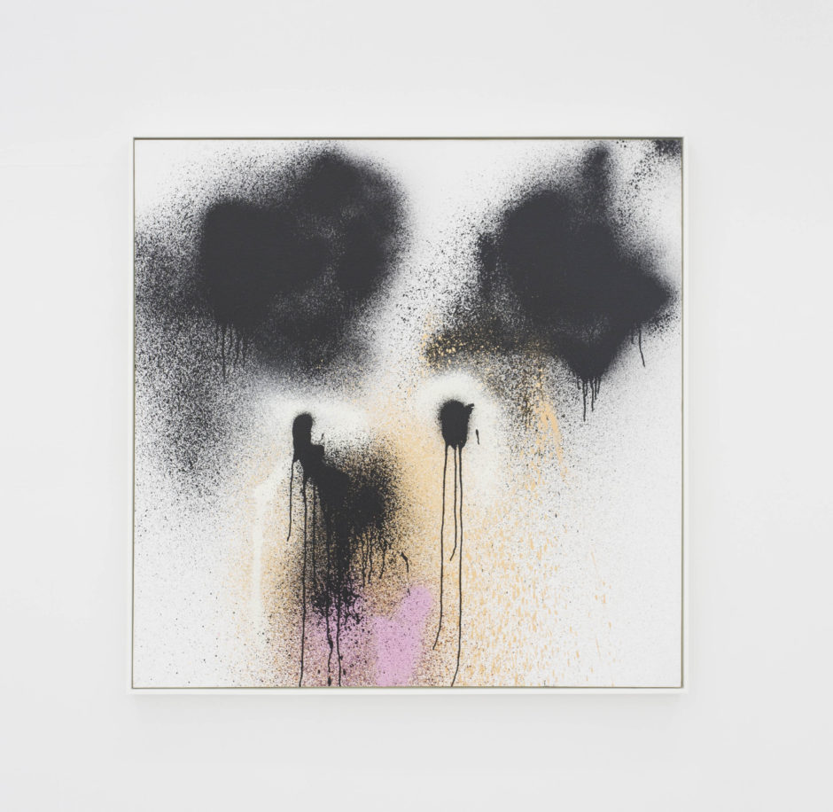 "Katsu, ""Mickey"", 2014, enamel on canvas, 48 x 48 inches"