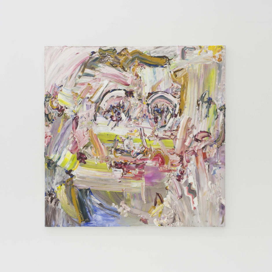 """""""Hello Darling"""", 2016, oil on canvas, 48 x48 inches, 121.9 x 121.9 cm"""