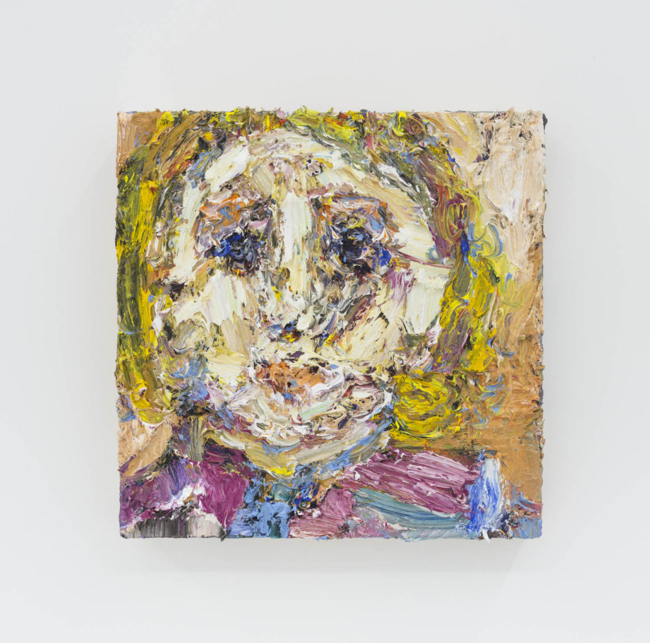 """""""Dough"""", 2016, oil on wood, 12 x 12 inches, 30.5 x 30.5 cm"""