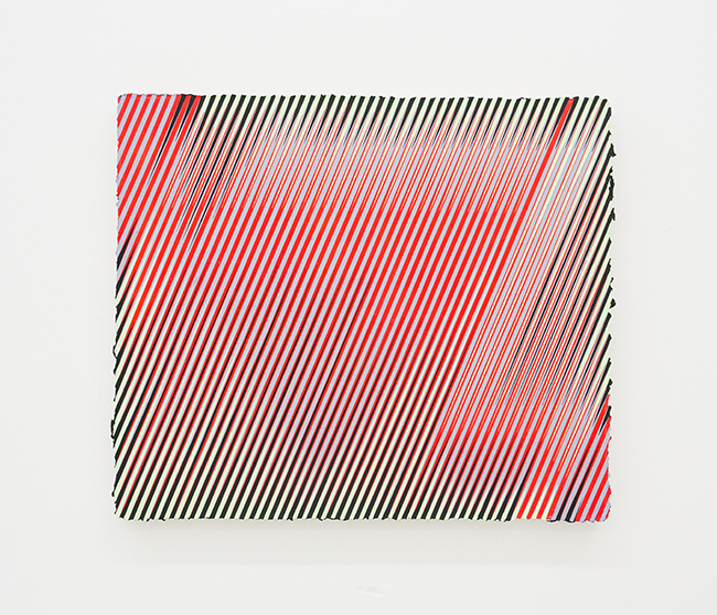 Palma Blank, RD/GRY_GRN/BLK, 2015, 25 x 29 inches
