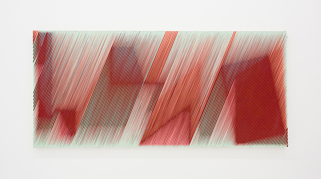 Palma Blank, RD/BLK_GRN/GRY, 2015 (43 x 93 inches)