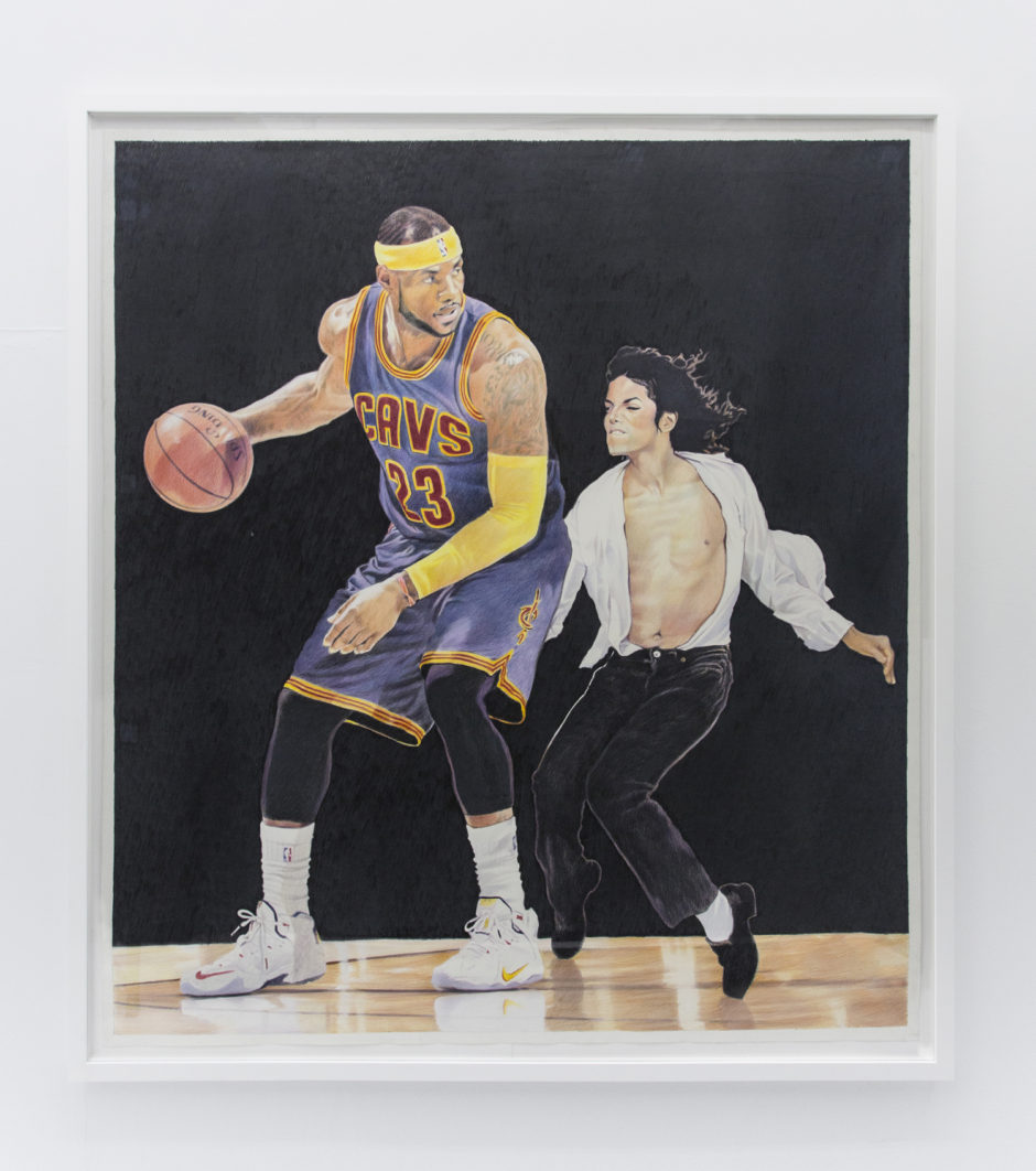 Kings Court, 2016, colored pencil on paper, 76 x 68 inches