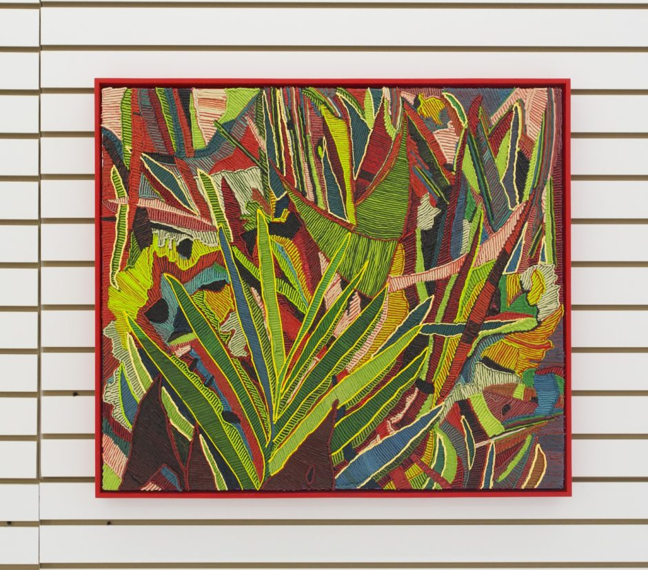 """Grasses"", 2015, Oil on canvas over board, 28.25 x 32.25 inches / 71.8 x 81.9 cm"