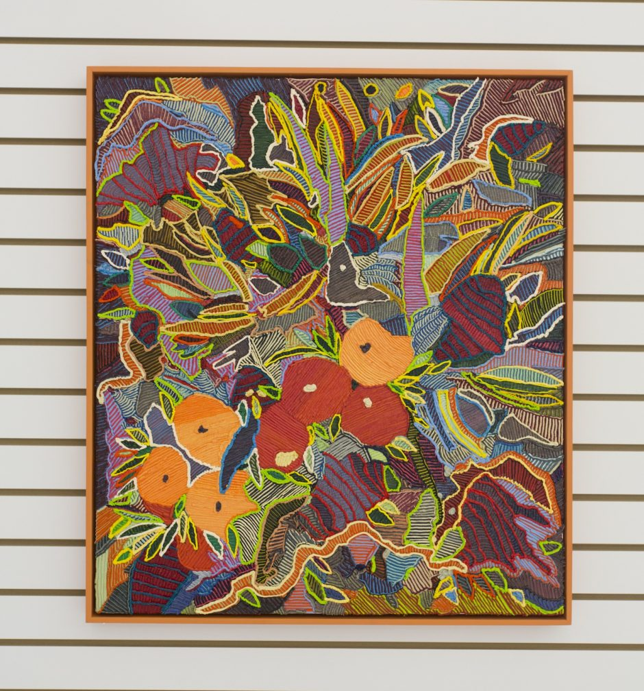 """Orange Cup"", 2016, Oil on canvas over board, 28.25 x 32.25 inches / 68.6 x 78.7 cm"