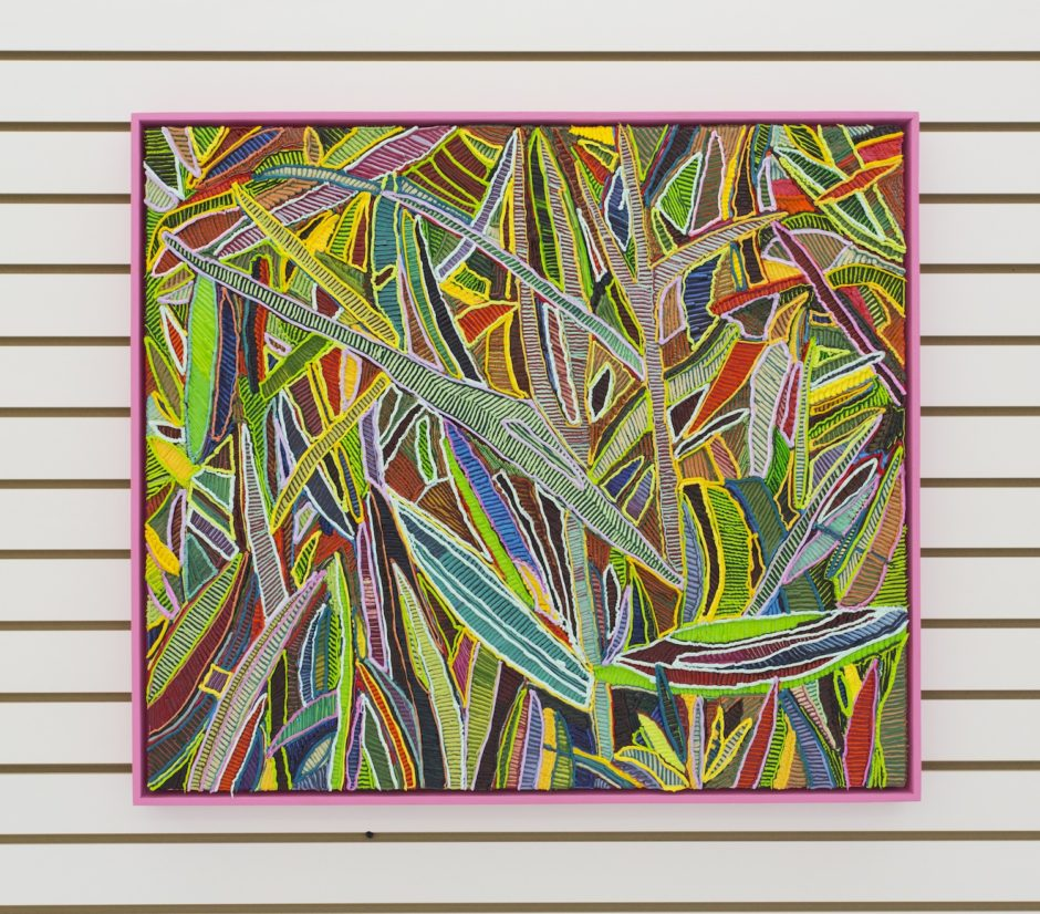 """Cotton Candy Grasses"", 2016, Oil on canvas over board, 28.25 x 32.25 inches / 71.8 x 81.9 cm"