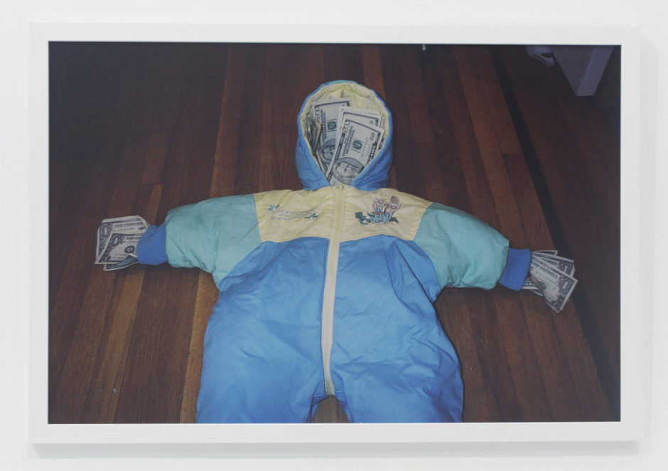 "Andrew Jeffrey Wright, ""Baby hooded onesie"", 2004, digital c-print, 24 x 36 inches"