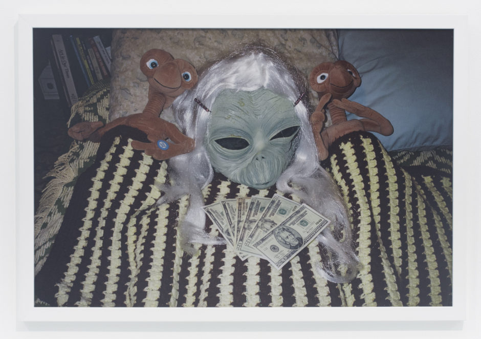 "Andrew Jeffrey Wright, ""2 E.T.'s and green girl alien"", 2007, digital c-print, 24 x 36 inches"