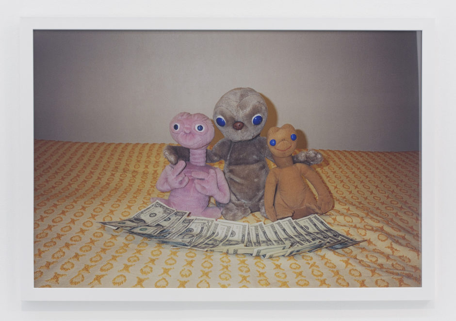 "Andrew jeffrey Wright, ""3 E.T.'s on bed"", 2001, digital c-print, 24 x 36 inches"